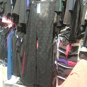Pants - Mesh stretchy black pants size L-XL